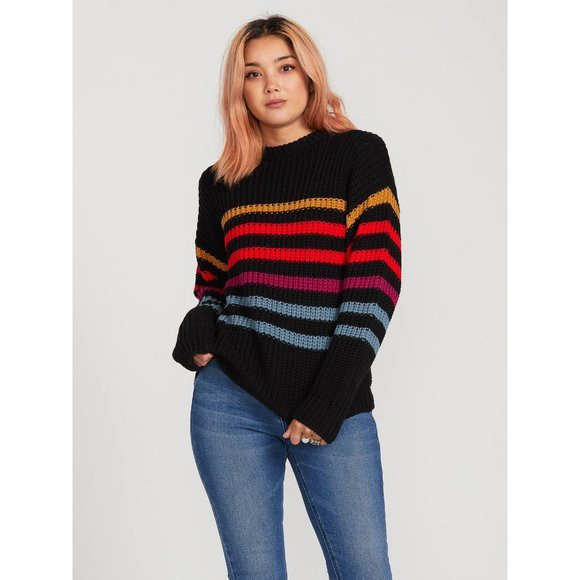 🌈 NWT Volcom Move On Up Striped Sweater (XS)